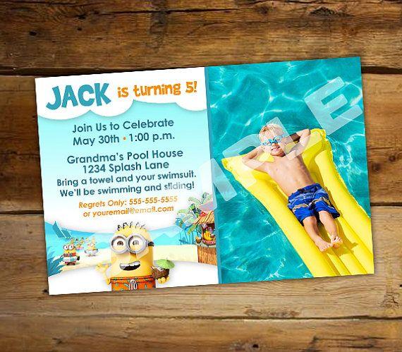 The 25 best Swim party invitations ideas – Swim Party Invitation