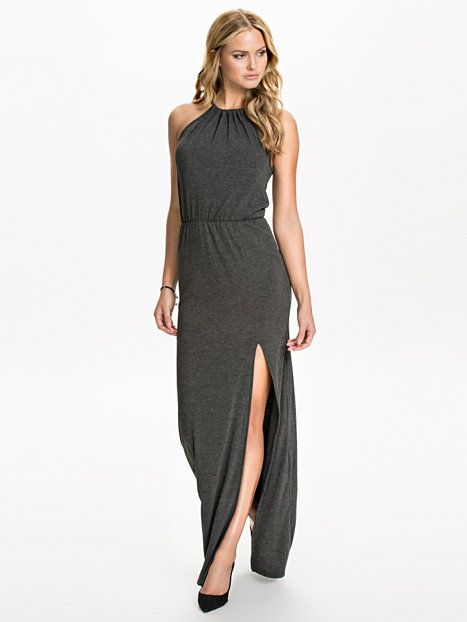Knot Split Jersey Maxi Dress - Club L Essentials - Grijs - Doordeweekse Jurken - Kleding - Vrouw - Nelly.com