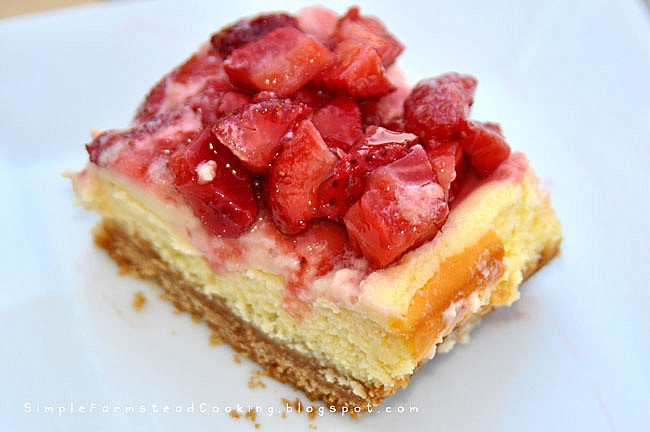 Simple Farmstead Cooking: Strawberry Cheesecake Bars http ...