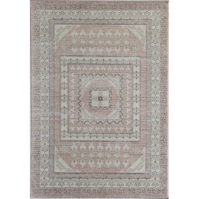 Kimble Pink Ivory Gray Area Rug With