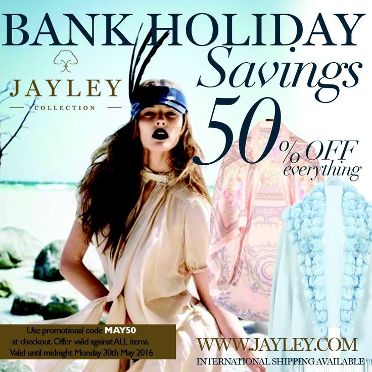 "JAYLEY on Twitter: ""#summer #holidays #beachwear #kaftan #kimono #save 50% this #bankholidayweekend save on EVERYTHING use code MAY50 https://t.co/KXPtmfryI0"""