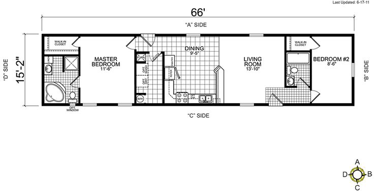 Best 25 mobile home floor plans ideas on pinterest for 14x80 mobile home floor plans