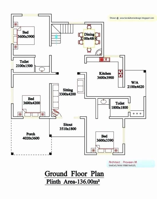 2 Bedroom House Plan Kerala Luxury 4 Bedroom House Plans Kerala Style Architect 1500 Sq Ft Hous In 2020 2 Bedroom House Plans 4 Bedroom House Plans Bedroom House Plans