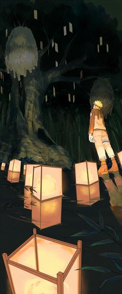 Naruto Shippuden Opening 13. I love the lanterns that are floating on the water!