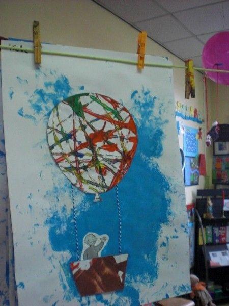 ballon gemaakt van strepen