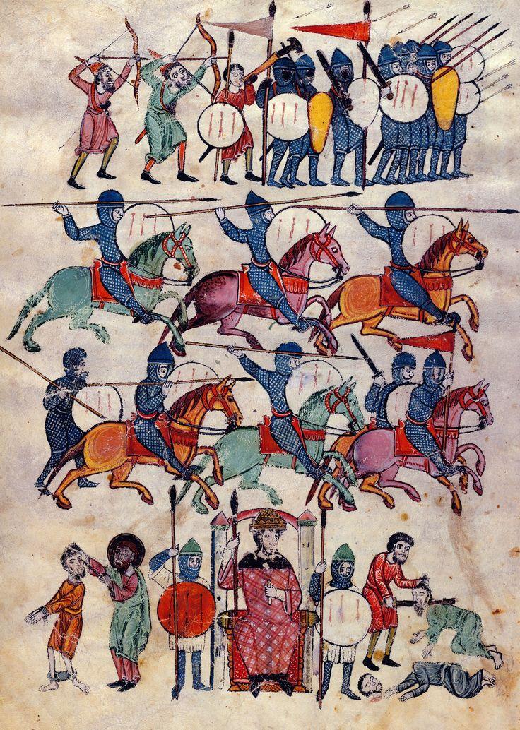 Siege of Jerusalem | Beatus of Liébana | Las Huelgas Apocalypse | Spain | 1220 | The Morgan Library & Museum