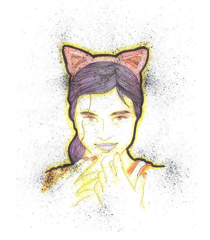 Gatinha, por Raquel Botelho t-shirt http://www.vandal.com.br/products/4097-gatinha