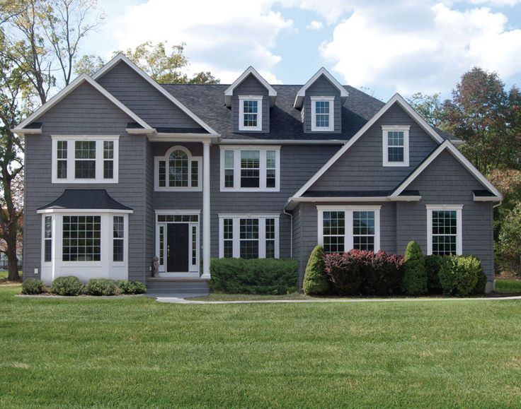 Dark-Gray Siding with White Trim | ... Siding Colors: Make Your Home Standout: Dark Grey Vinyl Siding Colors