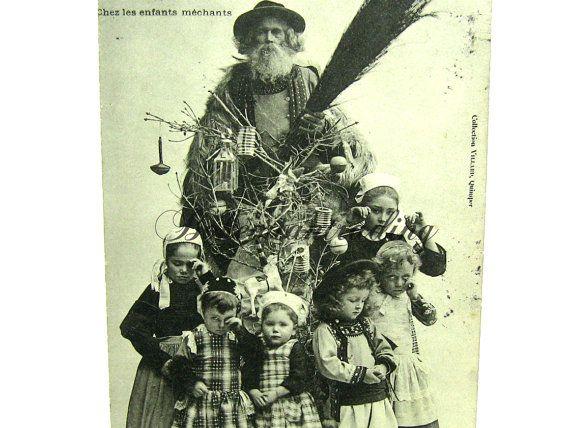 Antique Christmas Postcard. French Père Nöel. by bohemiantrading