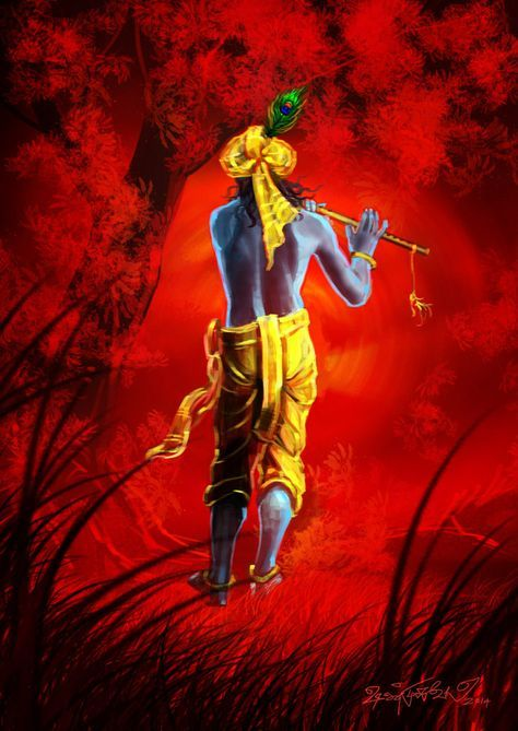Someone's put their heart in depicting the Lord in such vibrant hues.. Beautiful
