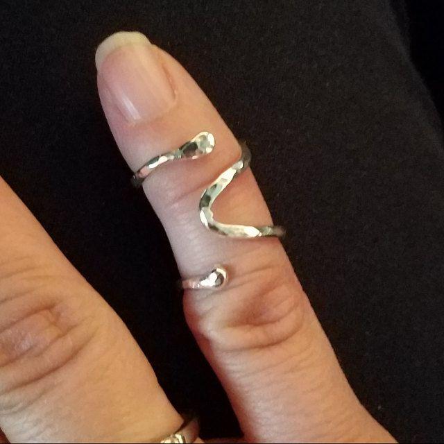 Thumb EDS or trigger finger ring splint sterling silver 925