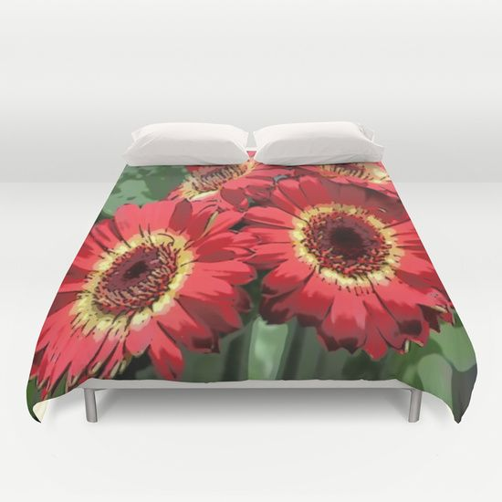 'Floral Dreams' duvet cover by LLL Creations. This design is available in many different products.    #society6 #society6_products  #LLLCreations #duvetcovers