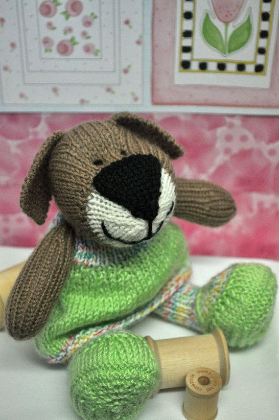 Knitting Patterns For Stuffed Dogs : 946 best images about Knitting toys on Pinterest