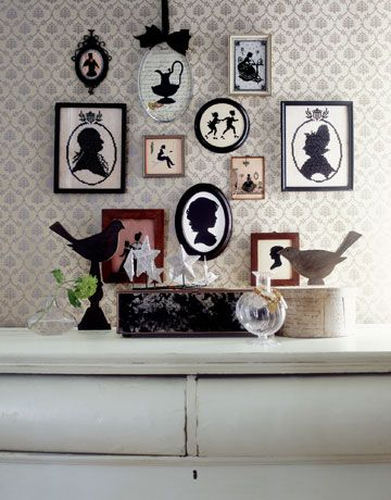 Silhouette inspired wall art: I'd also add the framed silhouettes of my family's members i.e. me & husband (for now)