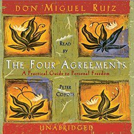"""Another must-listen from my #AudibleApp: """"The Four Agreements"""" by don Miguel Ruiz, narrated by Peter Coyote."""