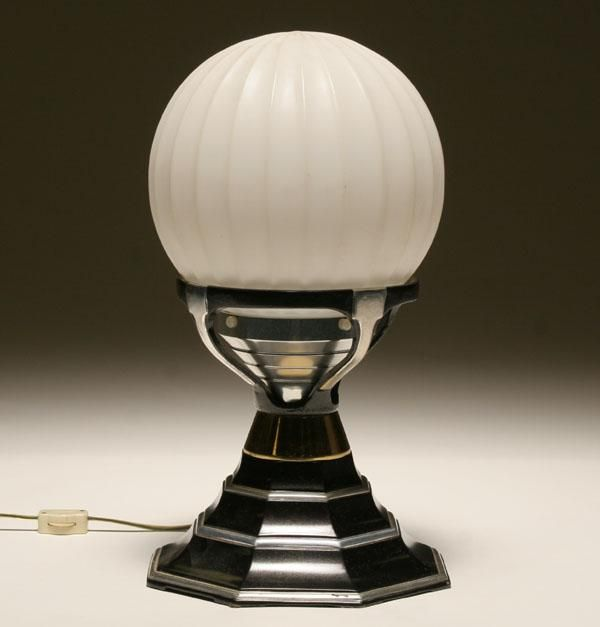 art deco ambient table lamp glass globe art deco furnishings pint. Black Bedroom Furniture Sets. Home Design Ideas
