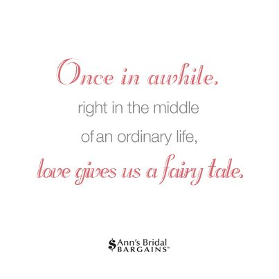 Fairy Tale Wedding Love Words