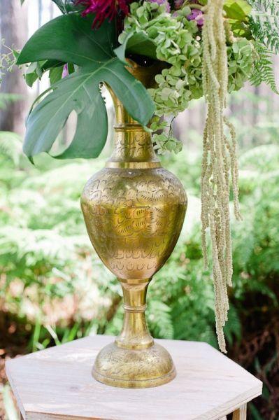 Brass Vase Extra Large perfect for large urn floral arrangements