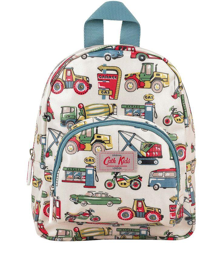 Cath Kidston Cream Garage Print Mini Rucksack | Kids Accessories by Cath Kidston | Liberty.co.uk