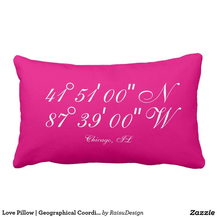 Love Pillow | Geographical Coordinates