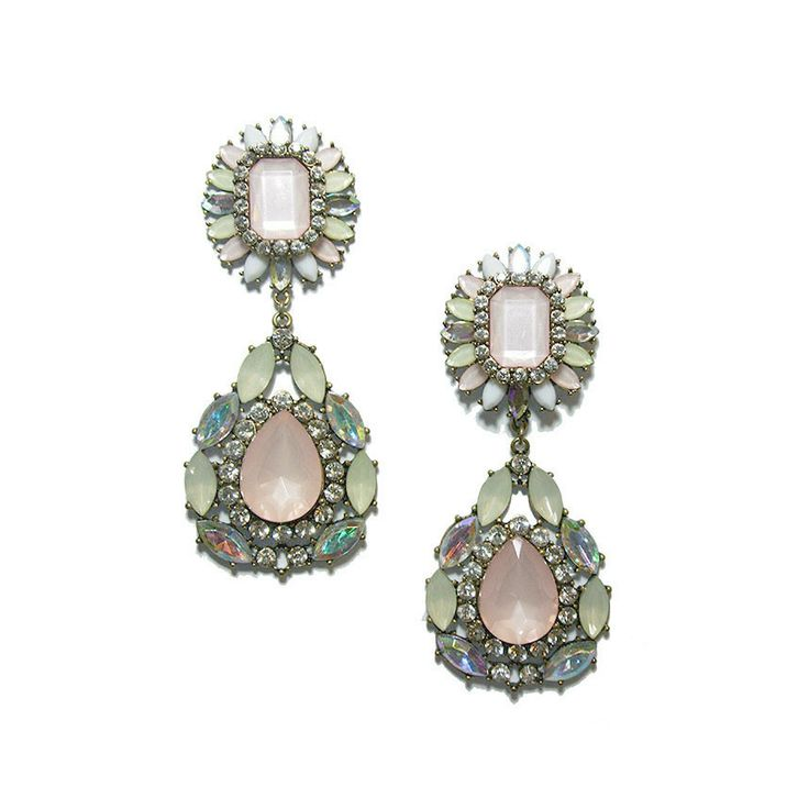 Fall in love for this Athena Crystal Statement Earrings