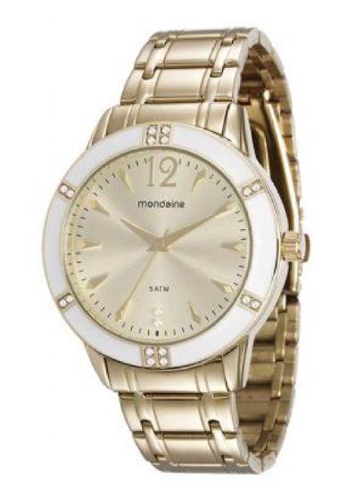 76600LPMVDE1 Relógio Feminino Mondaine Analógico Dourado | Guest Club