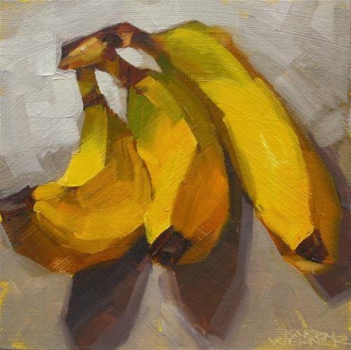 "Daily Paintworks - ""Nanners"" - Original Fine Art for Sale - © Karen Werner"