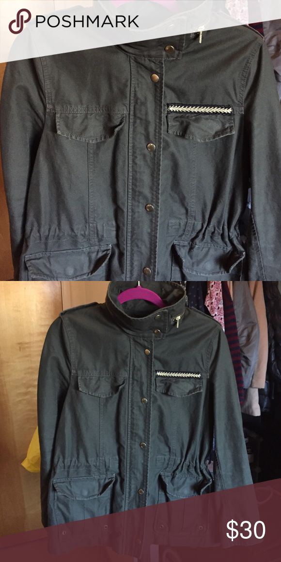 H&M green military jacket H&M green military jacket, size 10 H&M Jackets & Coats Utility Jackets