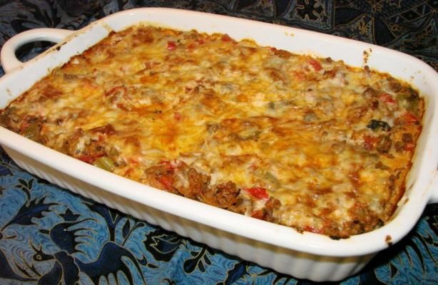 Inside out Stuffed Pepper Casserole. Made this for dinner tonight and it was delicious and so much better than actual stuffed peppers.