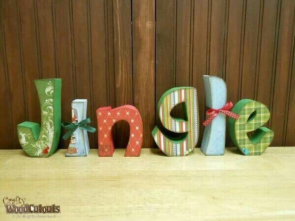 Cute jingle letters! Christmas craft!