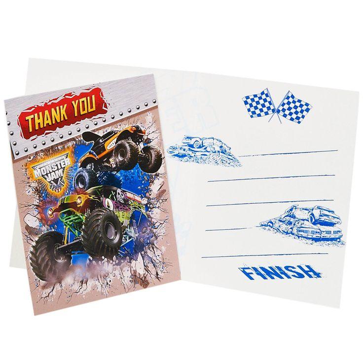 Monster Jam 3D Thank-You Notes, 93847