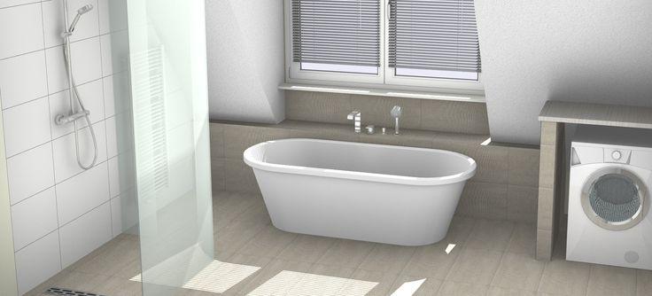 Ontwerp badkamer met vrijstaand