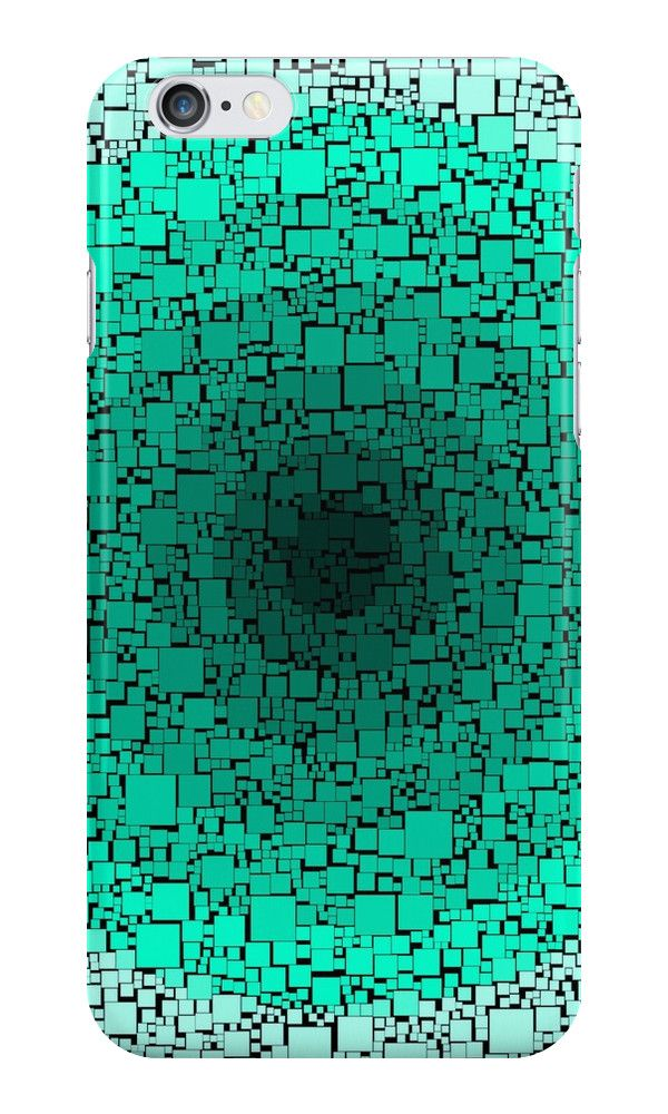 gradient blocks in shades of green by abstractify-me