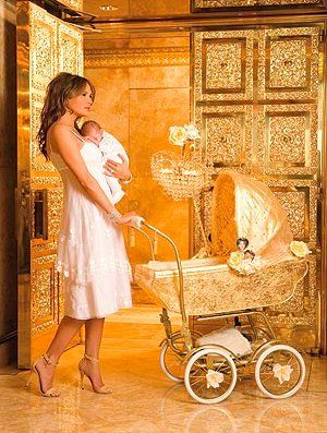 Trump home. Golden baby products? What universe do they think they are living in?