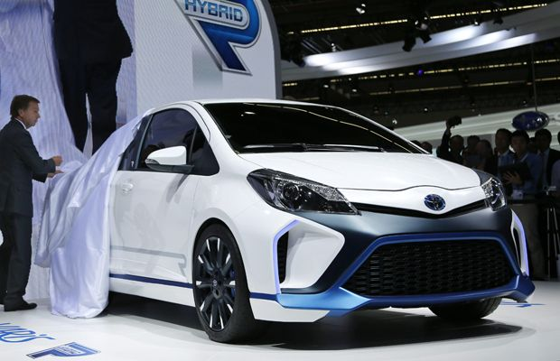 The Toyota Yaris Hybrid R, with 420-horsepower worth of hot hatch fury.