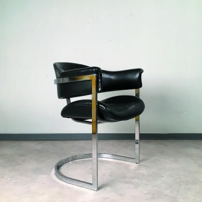 Leather Armchair by Vittorio Introini for Mario Sabot, 1970s 2