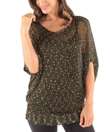Love this Black Short-Sleeve Dolman Sweater on #zulily! #zulilyfinds $14.99, usually $88!!