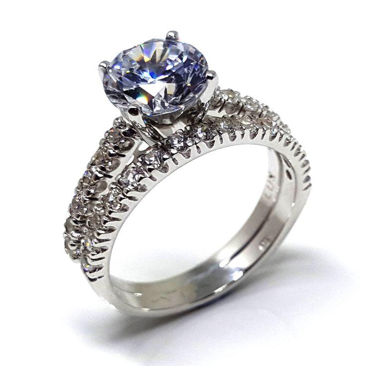 White Diamond simulant ring from Luxuria Jewellery New Zealand