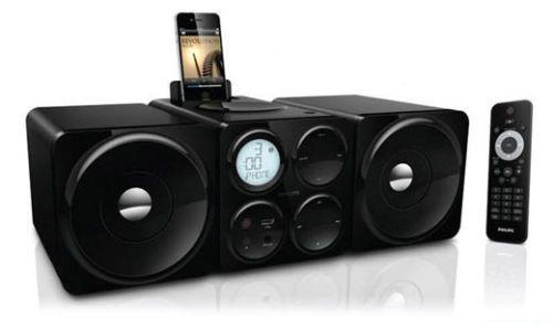 NEW Philips DCM-1075 Docking Audio System iPod/iPhone CD Radio USB 24W Dock Bass