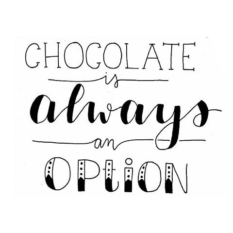 Chocolate is always an option . #handlettering #br…