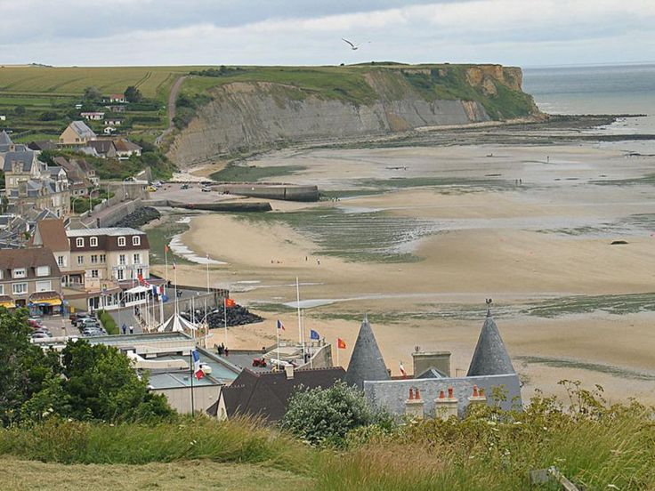 Arromanches, Normandy - France I stayed in the hotel - the beige building in the center left.