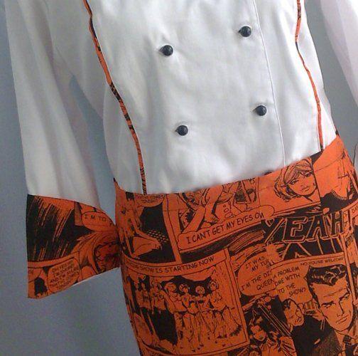 #Cake-designer #Chef #Style #divisa #cucina #giacca #cuoca #donna #pantalone #cappello #fantasia #fumetti #settore #ristorazione