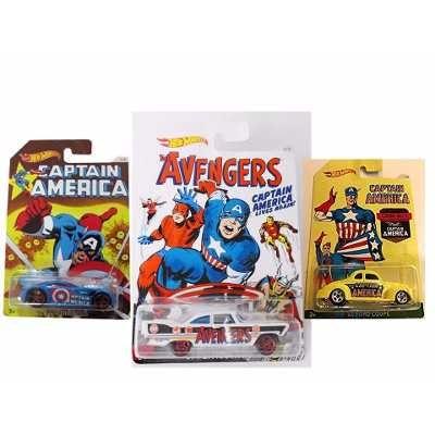 Lote De 3 Hot Wheels Capitão América E Avengers 59,99