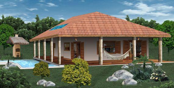 5 modelos de plantas de casas de campo para você construir a casa de seus sonhos e ter o descanso merecido do fim de semana. A casa de campo é algo sonhado por muitos brasileiros.