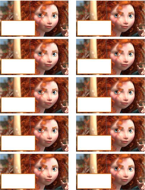 O Tapete Vermelho da Imagem: Images' Red Carpet: Etiquetas para livros escolares de Brave