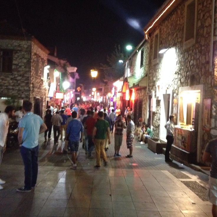 Bar street in Marmaris, Turkey