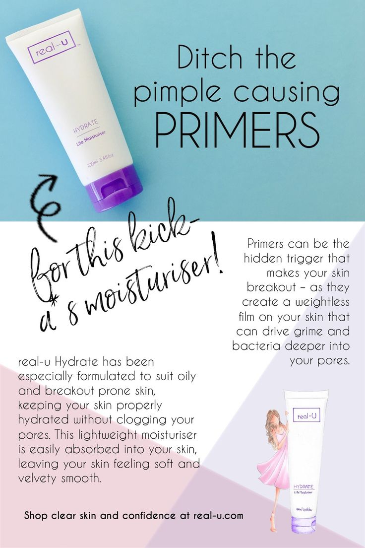 Ditch the pimple causing primers and get #skinlicious with real-u.com