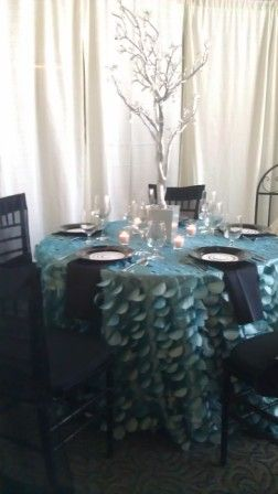 {Wedding Design} Contemporary Wedding Theme | Blue and Black Wedding