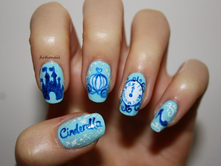 Fictionail: Cinderella Nails - Best 25+ Cinderella Nails Ideas On Pinterest Disneyland Nails