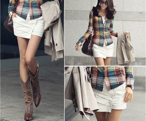 LOVE this outfit...I need cowboy boots and more button ups - 67 Best Cowboy Boots & Outfits Images On Pinterest